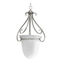 Torino 3 Light 20 inch Brushed Nickel Hall & Foyer Ceiling Light in Etched