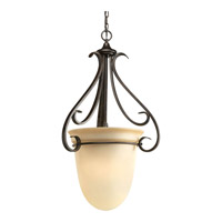 Progress P3824-77 Torino 3 Light 20 inch Forged Bronze Hall & Foyer Ceiling Light in Tea-Stained