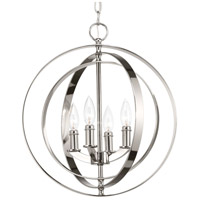 Equinox 4 Light 16 inch Polished Nickel Hall & Foyer Ceiling Light