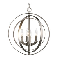 Equinox 4 Light 16 inch Burnished Silver Hall & Foyer Ceiling Light