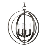 Equinox 4 Light 16 inch Antique Bronze Hall & Foyer Ceiling Light