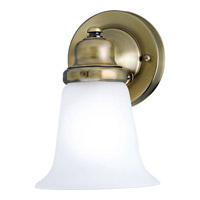 Clear Glass 1 Light 5 inch Antique Brass Bath Vanity Wall Light
