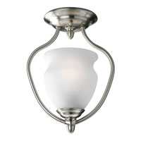 Progress Lighting Richmond Hill 1 Light Semi-Flush Mount in Brushed Nickel P3833-09
