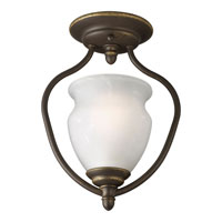 Progress Lighting Richmond Hill 1 Light Semi-Flush Mount in Antique Bronze P3833-20
