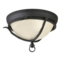 Santiago 2 Light 14 inch Forged Black Close-to-Ceiling Ceiling Light