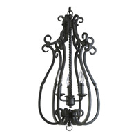 Santiago 3 Light 14 inch Forged Black Hall & Foyer Ceiling Light