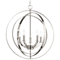 Equinox 5 Light 22 inch Polished Nickel Hall & Foyer Ceiling Light