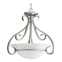 Progress P3843-09 Torino 3 Light 18 inch Brushed Nickel Hall & Foyer Ceiling Light in Etched