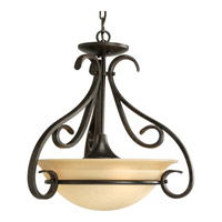 Progress P3843-77 Torino 3 Light 18 inch Forged Bronze Hall & Foyer Ceiling Light in Tea-Stained