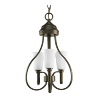 Progress Lighting Flirt 3 Light Semi-Flush Mount in Antique Bronze P3845-20WB