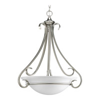 Torino 3 Light 22 inch Brushed Nickel Hall & Foyer Ceiling Light in Etched
