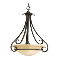 Torino 3 Light 22 inch Forged Bronze Hall & Foyer Ceiling Light in Tea-Stained