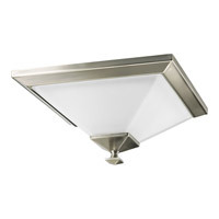 Progress Lighting North Park 1 Light Flush Mount in Brushed Nickel P3854-09