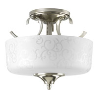 Progress Lighting Nicollette 2 Light Semi-Flush Mount in Brushed Nickel P3862-09