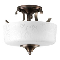 Progress Lighting Nicollette 2 Light Semi-Flush Mount in Copper Bronze P3862-124