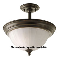 Progress Lighting Melon Glass 2 Light Semi-Flush Mount in White P3876-30EBWB