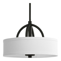 Calven 3 Light 15 inch Forged Black Hall & Foyer Ceiling Light in Opal Linen, 2