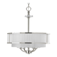 Progress P3881-104 Nisse 4 Light 20 inch Polished Nickel Hall & Foyer Ceiling Light