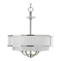 Progress P3881-104 Nisse 4 Light 20 inch Polished Nickel Hall & Foyer Ceiling Light