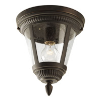 Westport 1 Light 9 inch Antique Bronze Outdoor Ceiling Lantern in Bulbs Not Included, Clear Seeded