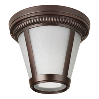 Westport LED 9 inch Antique Bronze Flush Mount Ceiling Light in Integrated LED, Etched Seeded