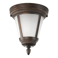 Westport 1 Light 9 inch Antique Bronze Outdoor Close-to-Ceiling Lantern in Bulbs Included, Etched Seeded