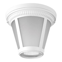 Westport LED 9 inch White Flush Mount Ceiling Light in Integrated LED, Etched Seeded