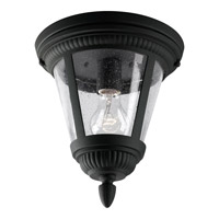 Progress P3883-31 Westport 1 Light 9 inch Black Outdoor Ceiling Lantern in Bulbs Not Included, Clear Seeded