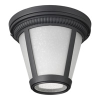 Westport LED 9 inch Black Flush Mount Ceiling Light in Integrated LED, Etched Seeded