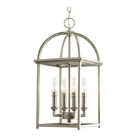 Burnished Silver Steel Construction Foyer Pendants