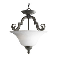 Melbourne 2 Light 17 inch Espresso Semi-Flush Mount Ceiling Light