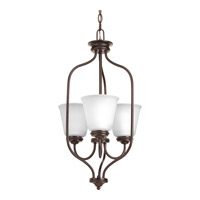 Progress Lighting Keats 3 Light Foyer Pendant in Antique Bronze with Etched Glass P3887-20