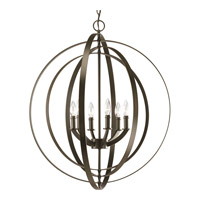 Progress P3889-20 Equinox 6 Light 28 inch Antique Bronze Hall & Foyer Ceiling Light