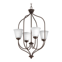 Progress Lighting Keats 4 Light Foyer Pendant in Antique Bronze with Etched Glass P3891-20