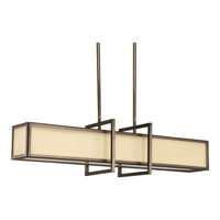Haven 4 Light 34 inch Copper Bronze Hall & Foyer Ceiling Light in Stonehenge