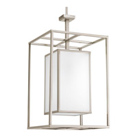Haven 1 Light 14 inch Brushed Nickel Foyer Pendant Ceiling Light in Etched