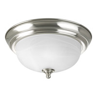 Alabaster 1 Light 11 inch Brushed Nickel Flush Mount Ceiling Light in 11-3/8