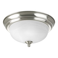 Progress Lighting Alabaster 1 Light Flush Mount in Brushed Nickel P3924-09EBWB