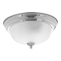 Dome Glass 1 Light 11 inch Polished Chrome Flush Mount Ceiling Light in 11-3/8