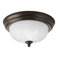 Progress Lighting Alabaster 1 Light Flush Mount in Antique Bronze P3924-20