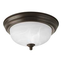 """Progress P3924-20 Alabaster 1 Light 11 inch Antique Bronze Flush Mount Ceiling Light in 11-3/8"""" Alabaster Glass"""