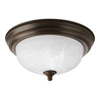 Progress P3924-20EBWB Alabaster 1 Light 11 inch Antique Bronze Flush Mount Ceiling Light in Bulbs Included, 11-3/8