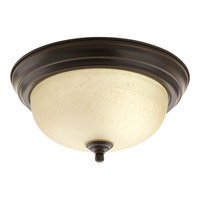 """Progress P3924-20EUL Signature 1 Light 11 inch Antique Bronze Close-to-Ceiling Ceiling Light in 11-3/8"""" Etched Umber Linen Glass"""