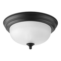 Progress Melon 1 Light Flush Mount in Forged Black P3924-80