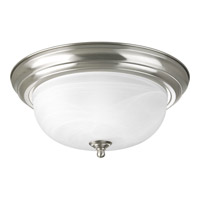 Alabaster 2 Light 13 inch Brushed Nickel Flush Mount Ceiling Light in 13-1/4