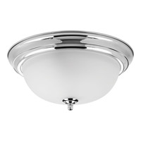 Dome Glass 2 Light 13 inch Polished Chrome Flush Mount Ceiling Light in Bulbs Not Included