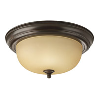 Alabaster 2 Light 13 inch Antique Bronze Flush Mount Ceiling Light in 13-1/4