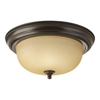 Progress Lighting Alabaster 2 Light Flush Mount in Antique Bronze P3925-20TEBWB