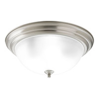 Progress Lighting Signature 3 Light Close-to-Ceiling in Brushed Nickel P3926-09ET