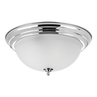 Dome Glass 3 Light 15 inch Polished Chrome Flush Mount Ceiling Light in Bulbs Not Included